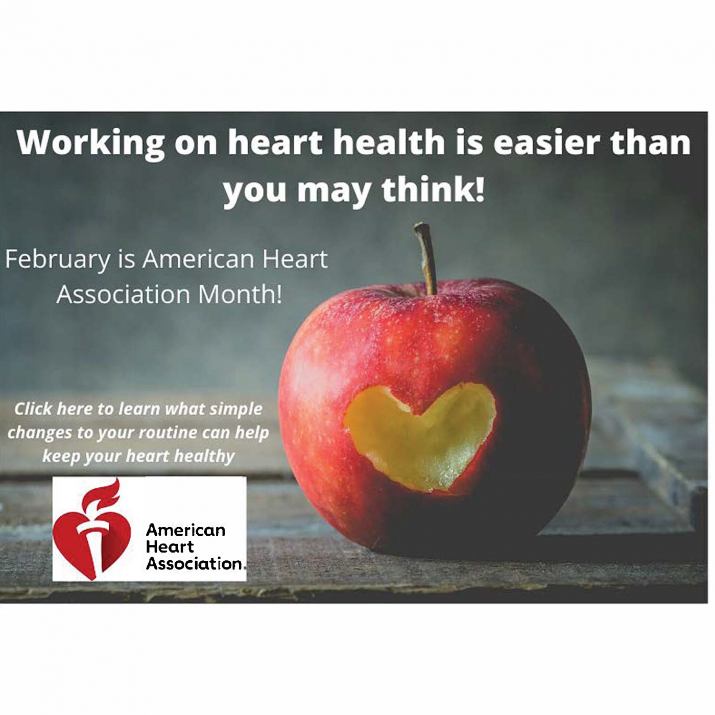 February is American Heart Association month!
